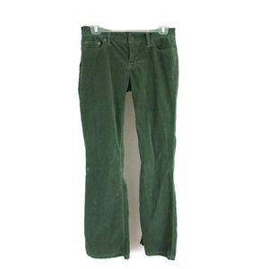 J Crew Womens Corduroy Pants Flare Size 4R Stretch